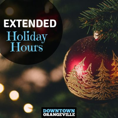 Extended Holiday Hours & 27th Annual Christmas in the Park