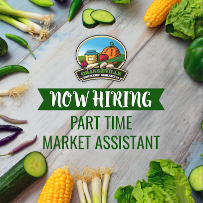NOW HIRING: Part Time Market Assistant