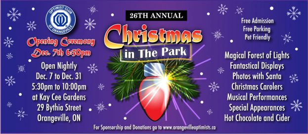 Orangeville Christmas in the park