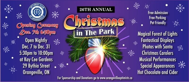 Christmas in the the Park – 2018