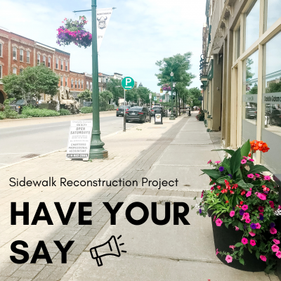 Read more about the article Sidewalk Reconstruction Project – Have Your Say!