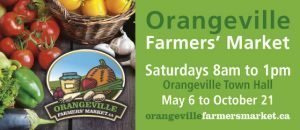 The Orangeville Farmers' Market Opens Saturday, May 6th 8 am – 1 pm