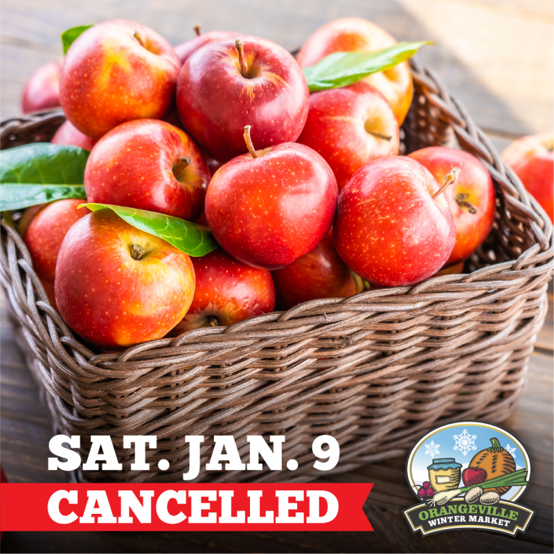Farmers' Market January 9th Cancelled