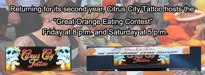 Cirtus City Tattoo - Orange Eating Contest