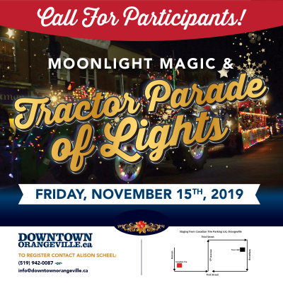 Participate in the Tractor Parade of Lights